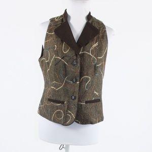 Brown beige  COLDWATER CREEK sleeveless vest 4